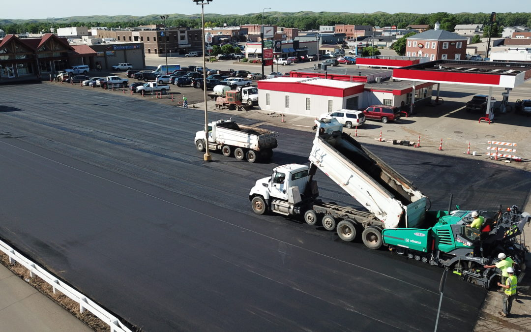 Lynn DakotaMart parking lot paving project